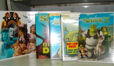 The full set of Shrek DVDs!!!